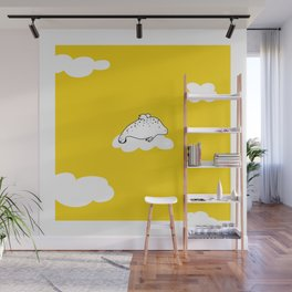 Flying Manatee by Amanda Jones Wall Mural