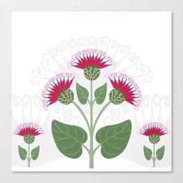Decorative burdock flower Canvas Print