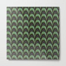 Metal green stripes Metal Print