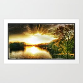 Sunset, My Lover Art Print