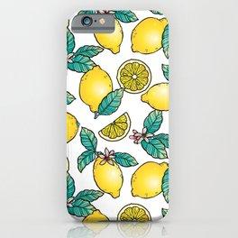 Digital Lemon Pattern iPhone Case