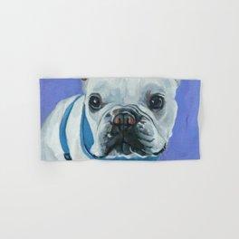 French Bulldog Portrait Painting Hand & Bath Towel