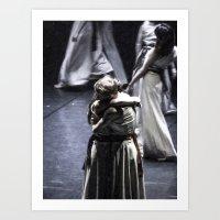 ballet Art Prints featuring Ballet by Sébastien BOUVIER