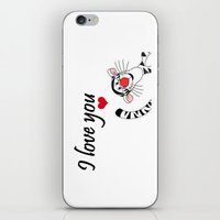 tigger iPhone & iPod Skins featuring Tigger Love by BlackBlizzard