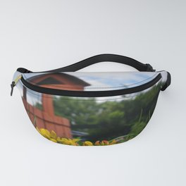 Red Well Beyond the Yellow Flowers Fanny Pack