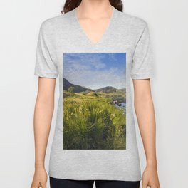 Llyn Ogwen and Tryfan Unisex V-Neck