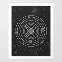 solar system Art Prints featuring SOLAR SYSTEM by Mírë