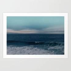 Blue California Ocean Art Print