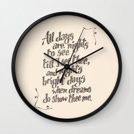 Sonnet 43 Wall Clock
