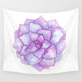 Echeveria - Purple Succulent Wall Tapestry