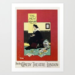 The New Woman, vintage Comedy Theatre london advert Art Print
