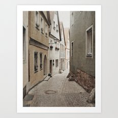 Italian Alley - Muted Tones Art Print