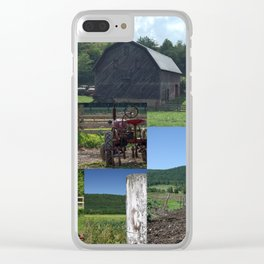 Barns of Summer Collage Clear iPhone Case