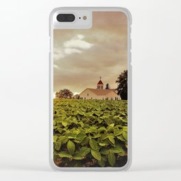 Saint Peters Soybeans Clear iPhone Case