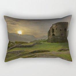 Dolbadarn Castle Sunrise Rectangular Pillow