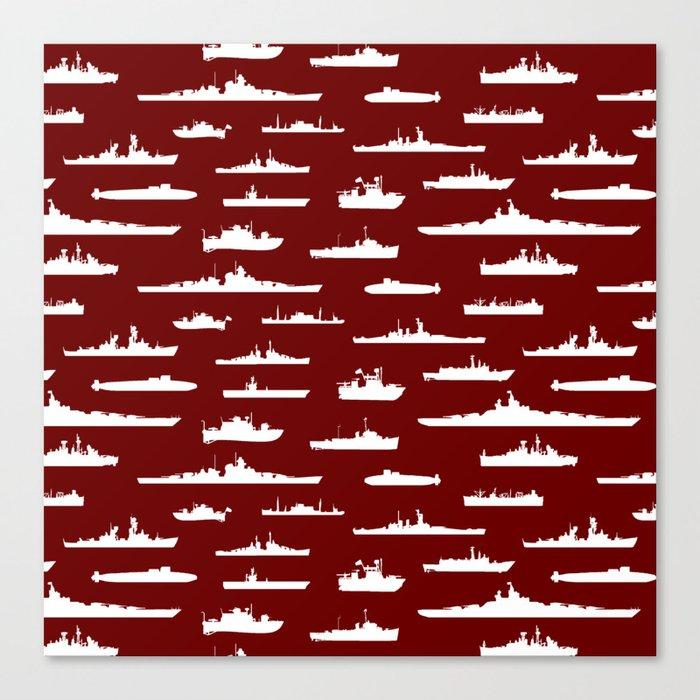 Battleship // Maroon Leinwanddruck