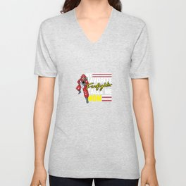 My Favorite Firefighter Calls Me Mom For A Firefigter Mom Unisex V-Neck