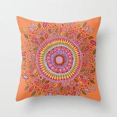 Pumpkin Bloom Throw Pillow