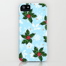 Holly Days iPhone Case