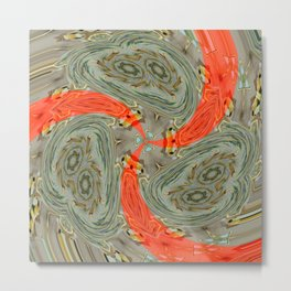 Stranger Clock Whirlwind Kaleidoscope Rewhirled Metal Print