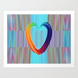 Fractal Art- Pattern Art- Heart Art- Blue Hearts-Pixxie Stixx- LGBT Art- Love- Healing Energy Art Art Print