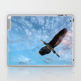 Great Blue Heron Soaring Laptop & iPad Skin