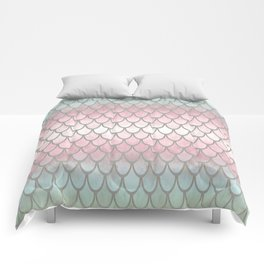 Pretty Mermaid Scales 19 Comforters