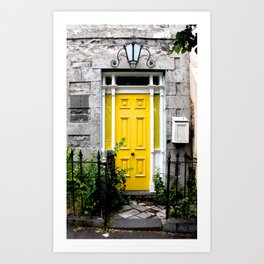 Yellow Door. Art Print