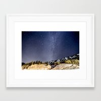 milky way Framed Art Prints featuring Milky way by Garrett Lockhart