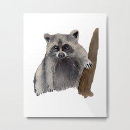 Watercolor Raccoon Metal Print