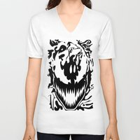 carnage V-neck T-shirts featuring carnage by Rebecca McGoran