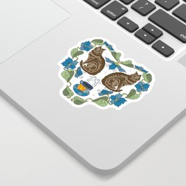 Coffee and Cats Sticker