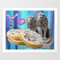 cookies Art Prints featuring COOKIES! by Aldo Couture