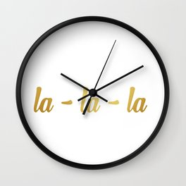 la-la-la 2 Wall Clock