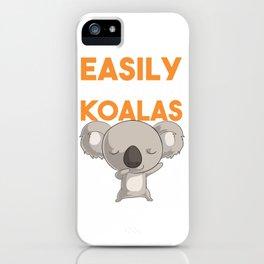 Australian Koala Shirt. Easily Distracted By Koalas. Baby Koala Bear Shirt for the Koala Lover.  iPhone Case