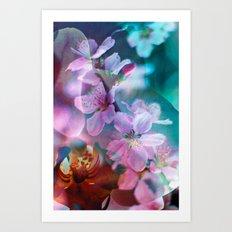 Double Flowers Art Print