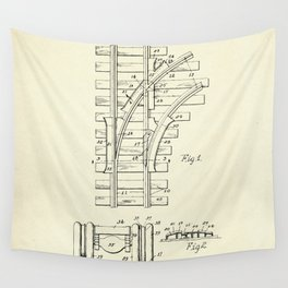 Railroad Track Construction-1932 Wall Tapestry