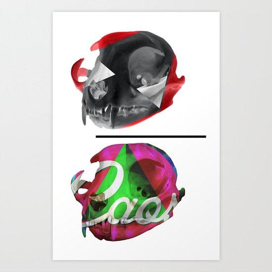 en la luna del caos terrenal Art Print