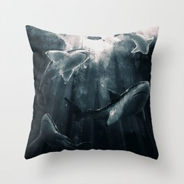 Please don't eat me Throw Pillow