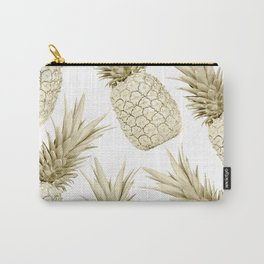 Gold Pineapple Bling Carry-All Pouch