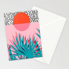 Whoa - palm sunrise southwest california palm beach sun city los angeles retro palm springs resort  Stationery Cards