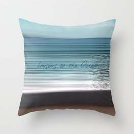 Longing to the Ocean I Throw Pillow