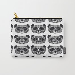 Panda on white background black hand-drawing head Carry-All Pouch