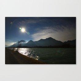 Alps at the Inn 2 Canvas Print