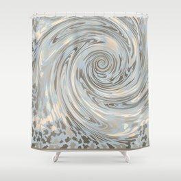 GRAY SAFARI FLOW Shower Curtain