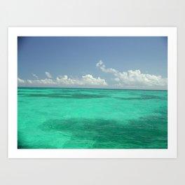 Waters off Key West, Florida Art Print