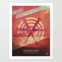 chvrches Art Prints featuring Chvrches by Derek Brown
