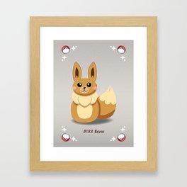 Evolution Bobbles - Eevee Framed Art Print
