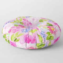 English Cottage Garden Floor Pillow
