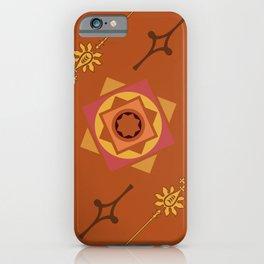 Orange Geometric Pattern iPhone Case